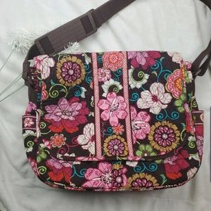 Vera Bradley Laptop Messenger Large Computer Bag F